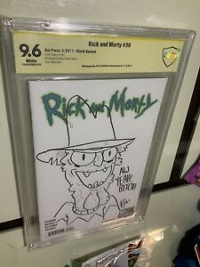 Rick And Morty 30 Cbcs 9.6 SS Kyle Starks Sketch Black Variant SCARY TERRY RARE