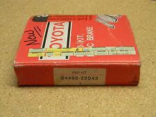 AUTO FULL SET OF GENUINE TOYOTA SUPRA DISC PAD KIT 04492-22043