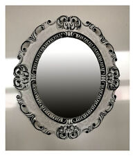 Baroque Antique Picture Frame in White Black Photo Oval 45x38 cm NEW