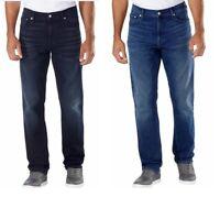 Calvin Klein CK Men's Straight Fit Jeans Blue & Dark Blue Free Shipping