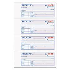 TOPS Money/Rent Receipt Books 2-3/4 x 7 1/8 Three-Part Carbonless 100 Sets/Book