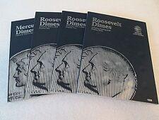 Set of Whitman Mercury/Roosevelt Dime Folders 1916-Starting 2005-- #9014 - #1939