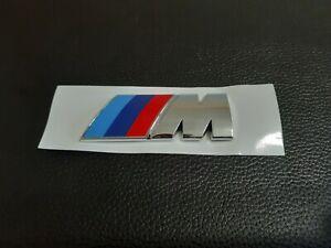 FOR FIT BMW  /M-SPORT EMBLEM LOGO BADGE Chrome Universal PEEL & STICK WITH  3M