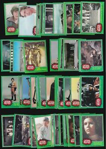 STAR WARS A TOPPS 1977 4TH SERIES GREEN GUM CARD SET OF 65 OF 66 (1 MISSING) ++