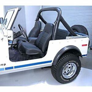 For Jeep Wrangler Cj Yj Tj 76-02 New Front Bucket Seat Black  X 13401.01