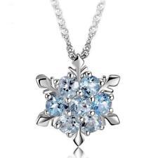 Silber Schneeflocke Ohrringe Strass Kristall Anhänger Damenschmuck W Halske Y2A0