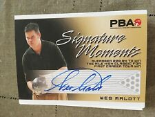 2007 PBA Bowling Signature Moments Autograph Wes Malott