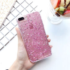For iPhone 5 SE 6s 7 Plus Glitter Girly Bling Sparkle TPU Soft Clear Case Cover