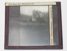 Burg Eltz, antikes Lichtbild Glasplatte ca. 1920 #E886
