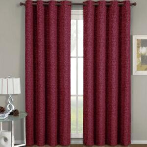 "54x84"" Panel Fiorela Smooth Jacquard Grommet Window Drapes & Curtains (Single)"