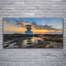 Leinwand-Bilder Wandbild Canvas Kunstdruck 120x60 Leuchtturm Landschaft