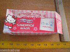 fe4c353790 Hello Kitty Sanrio 2006 box of 50 zip seal sandwich lunch bags
