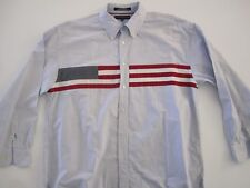 Tommy Hilfiger AMERICAN FLAG Oxford Cloth Button Down Stripe XL AMAZING