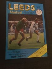 Leeds United V Derby County 1986 Soccer/football Programme