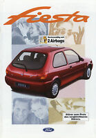 Ford Fiesta Prospekt 1997 1/97 Autoprospekt Broschüre Focus Flair Fun Ghia Auto