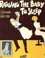 A4 Photo Sheet music cover for Ragging the Baby to Sleep 1912 Print Poster