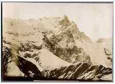 France, Mont Meije  Vintage citrate print. Chasseurs Alpins.  Massif des Ecrin