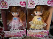 Super Rare Set 1987 Takara Licca Miki & Maki Heart Hills Gingham Plaid Dresses