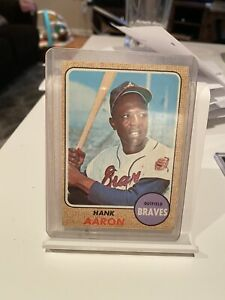 1968 Topps Baseball Card Hank Aaron #110