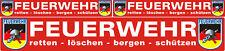 3 x Feuerwehr Aufkleberset Chrom Folie Reflektierend SUV Bus Auto Fahrad Laptop