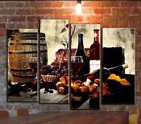 BIG Kitchen Wine Barrel Wall Art Picture Decor Painting On Canvas Still Life Art