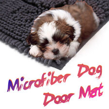 """5X More Absorbent Microfiber Chenille Dog Door Mat, NO More Muddy Paws 36"""" X 26"""""""