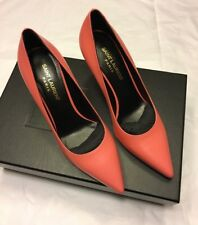 SAINT LAURENT Classic Paris 80 peach pink court shoes heels 35.5 UK 2.5 YSL