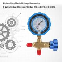 1 x Air Condition Manifold Gauge Manometer& Valve Fit For R404a R22 R410 R134A