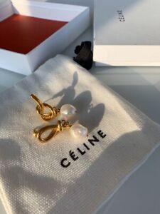 Earrings Celine with pearls