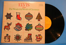 ELVIS PRESLEY WONDERFUL WORLD OF CHRISTMAS LP 1971 RE 75 GREAT COND! VG+/VG++!!A