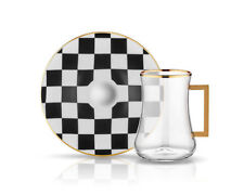 """Koleksiyon"" Chess model Tea set 6 pieces"