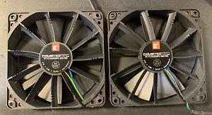 Noctua NF-F12 3000 RPM 120mm Heavy Duty Cooling Fan - Black 2 Fans