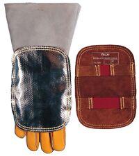 High Heat Reflective Aluminium Hand shield leather back for welder welding glove