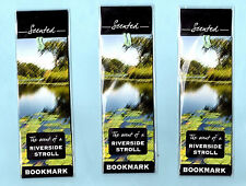 3x Book marks River Walk Smell Scented Pond Xmas Stocking Filler Gifts Kids Lot