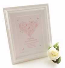 Personalised Bridesmaids Gifts - Framed Print Thank you, Wedding favour keepsake