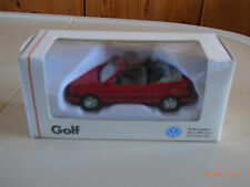 SCHABAK 1:43 VW Golf III cabriolet rouge Rolling Stones neuf dans sa boîte RARE