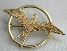 Shetland Silver 9ct Gold Arctic Tern Sea Bird Brooch Scotland Edinburgh 1999