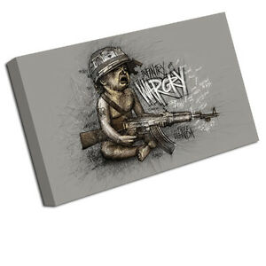 BANKSY CANVAS ART PRINT WARCRY CHILD WALL PICTURE BA42