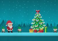 A1| Pixelated Christmas Poster Print Size 60 x 90cm Christmas Poster Gift #15909