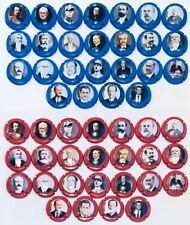 News! Série Générique de 25 Présidents Français contour rouge et  bleu