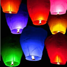 Lot 40pcs Paper Chinese Lanterns Sky Fly Candle Lamp for Wish Party Wedding