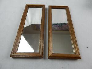 2 Rectangular Wooden Accent Mirrors