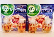 Air Wick CINNABON Cinnamon Bun Scented Oil Refill Lot Of 2 Twin Packs 4 Refills