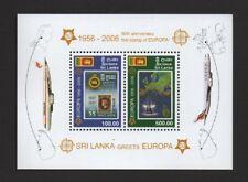 SRI LANKA 2006 50th ANNIV OF FIRST EUROPA STAMP M/SHEET *VF MNH*