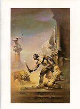 "1978 Full Color Plate ""I Am A Barbarian"" by Boris Vallejo Fantastic GGA"