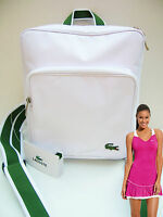 New Vintage Lacoste Backpack Knapsack Rucksack Bag Casual 2.12 White