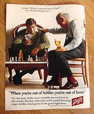 1967 Schlitz Beer Ad Father & Son Playing Game of Chess Next Movie? Refrigerator