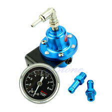 Adjustable Superior Fuel Pressure Regulator With Filled Oil Gauge Aluminum New