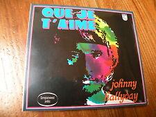JOHNNY HALLYDAY :  QUE JE T'AIME  CD DIGIPACK Live 2003  Neuf sous blister