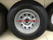 """15"""" 5on5 BP Trailer Rim / LoadStar Tire Wheel Assembly Silver Mod 205/75D15"""